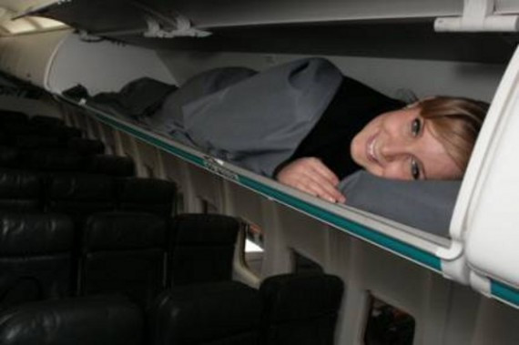 Sleeping in cargo compartment