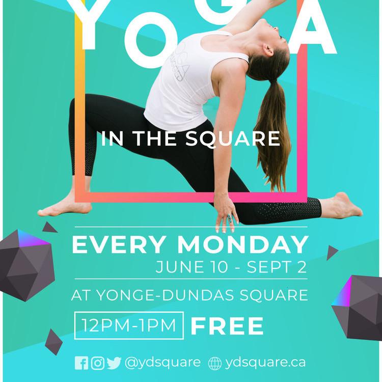 Yonge and Dundas Free Yoga and Live Crystal Singing Bowls in the Square w/ Tara Good