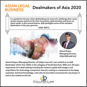 Azmul Haque named in Dealmakers of Asia 2020 by Asian Legal Business