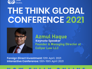 Azmul Haque to be Keynote Speaker at The Think Global Conference 2021