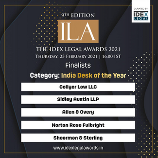 Collyer Law is a finalist at the 2021 Idex Legal Awards