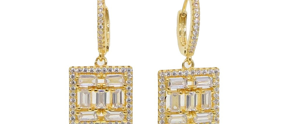 Square Charm Earring