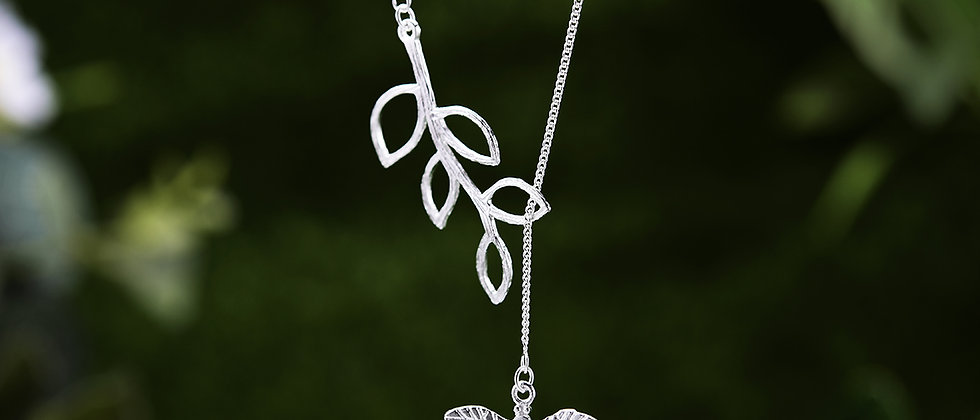 Cute Dragonfly Silver Necklace
