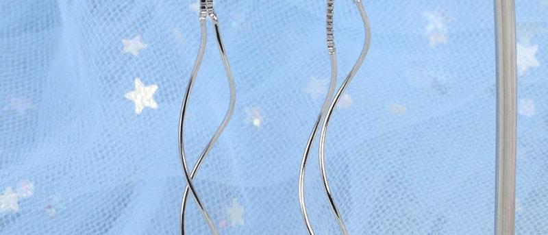 Silver Thread Earring