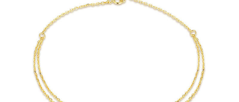 Star Charm Layered Anklet