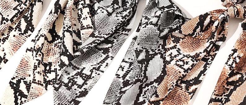 Snake Print Scarf Scrunchies