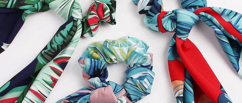 Summer Scarf Scrunchies