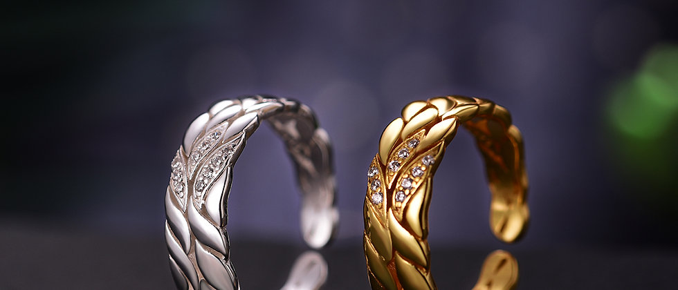 "Couple Ring ""Aster petals"""