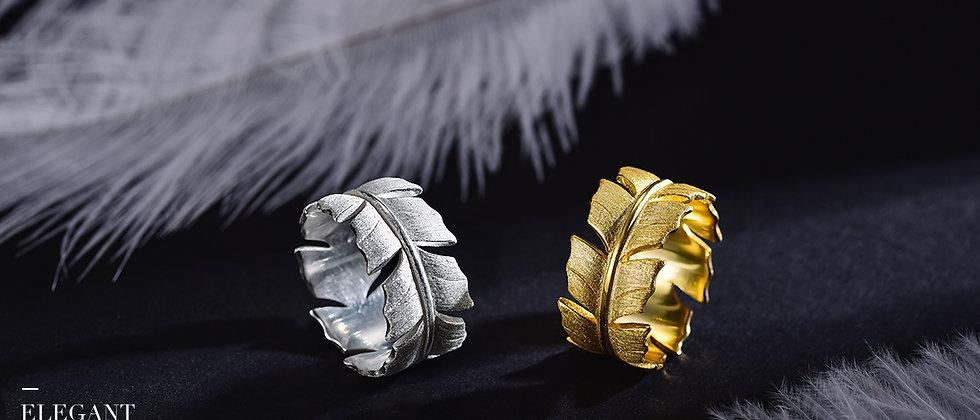 Elegant Soft Feather Ring