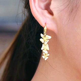 Triple-Flowers Earring
