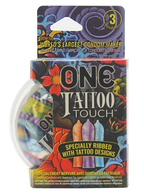 One Tattoo Touch Latex Condoms