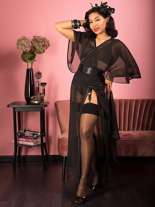 Sheer Lounging Robe   What Katie Did
