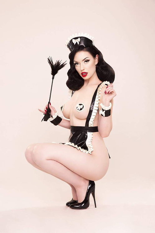 Bettie Page Latex Maid Set