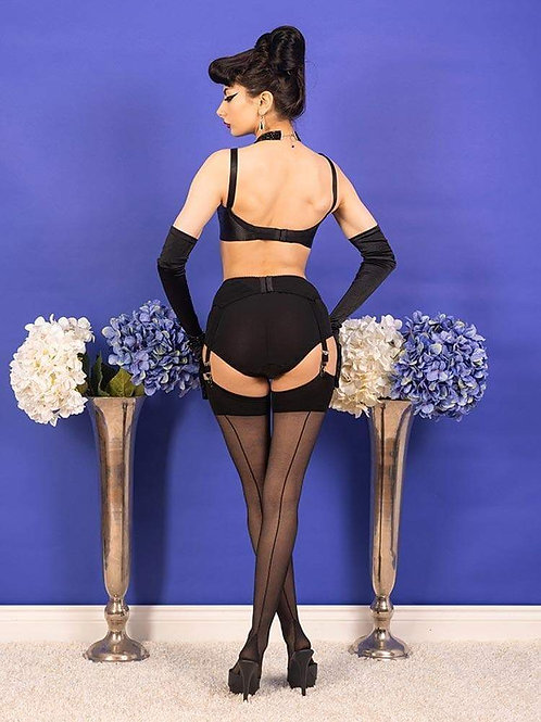 Black Seamed Stockings