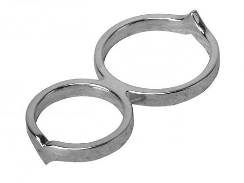 Steel Infinity Chastity C-ring