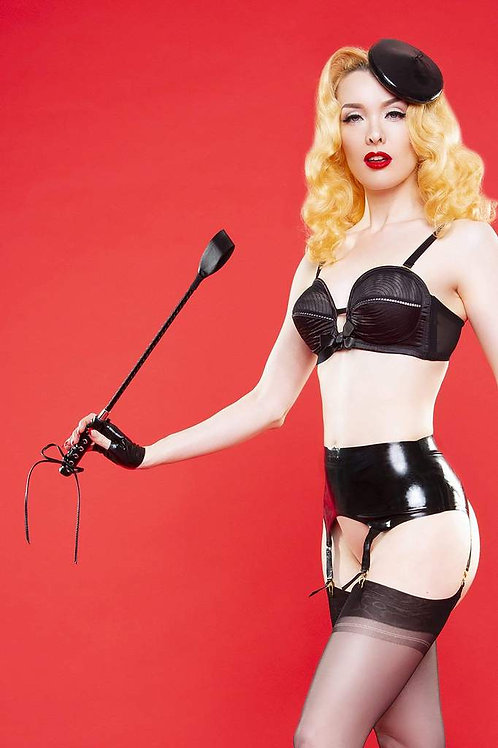 Bettie Page Latex Suspenders
