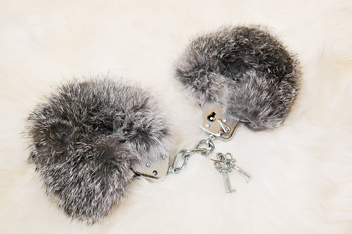 Rabbit Fur handcuffs