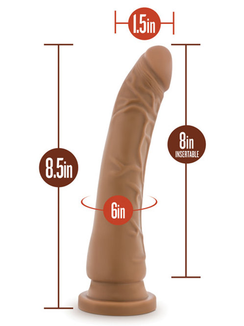 "Silicone Willy 8.5"" Mocha"