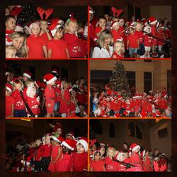 Christmas carol signing at the Hilton Hotel