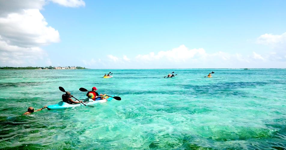 kayaking to the platform