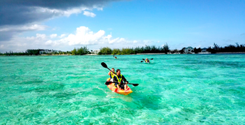 kayaking to platform