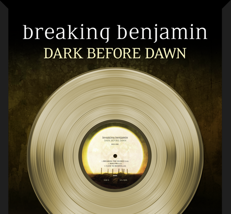 Breaking Benjamin - Dark Before Dawn RIAA GOLD