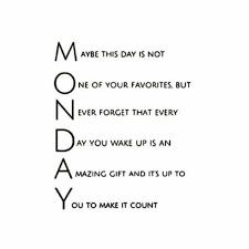 Monday, Make It Count