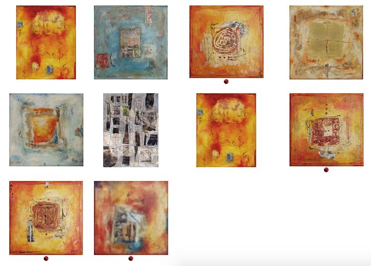 Celine Bedat, exposition septembre 2003, Galerie Art et Miss