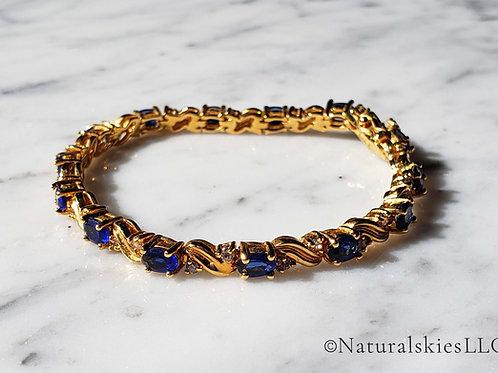 Classic Gold and Gem Bracelet