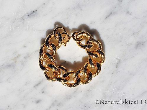Classic Gold Chunky Chain Bracelet