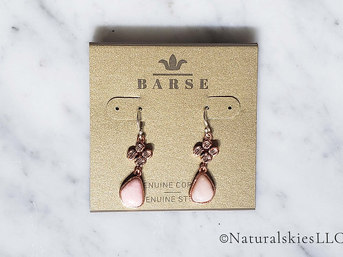 Barse Pink Opal Earrings