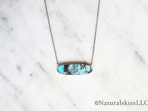 Tehya Oyama Turquoise Slice Necklace