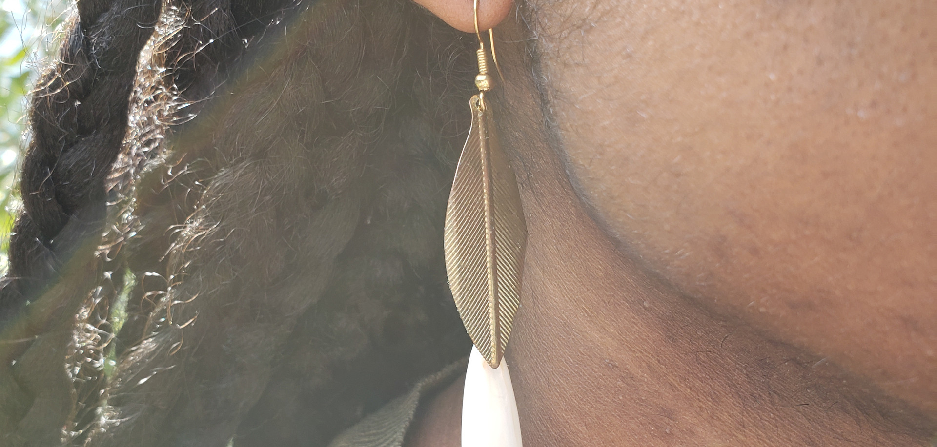 Leaf and Shell Earrings