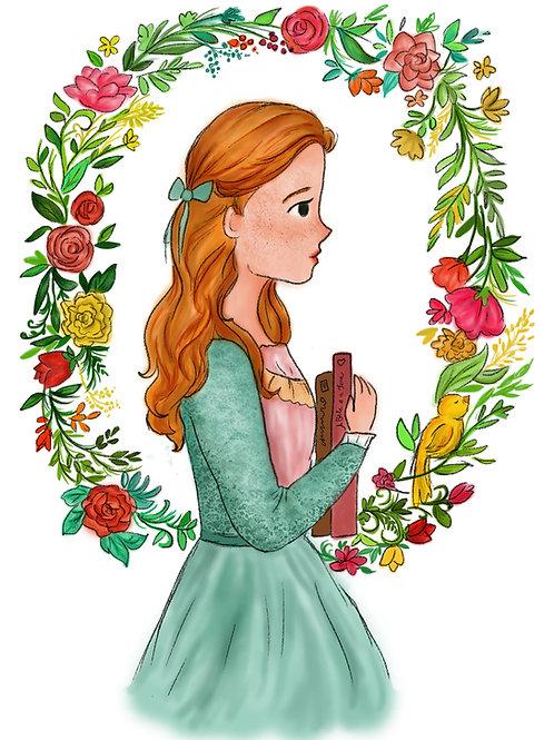 Print ilustração Menina