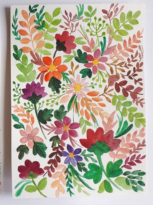 Aquarela Floral 1, original