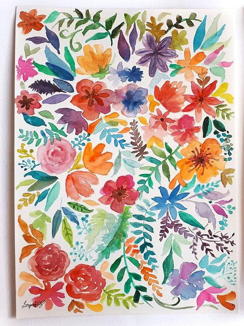 Aquarela Floral 2, original