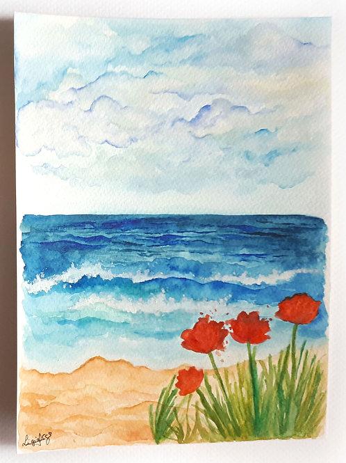 Aquarela Praia, original