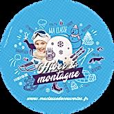 logo hiver et montagne