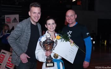 Deutsche Meisterschaft Karate Hamburg mit Trainer Roy Hubrich und Manager Alexander Volmer
