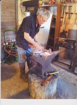 Bill Working on anvil