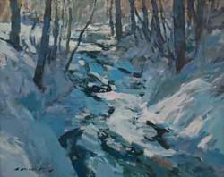 Sun Winter Brook/Vermont Below Zero