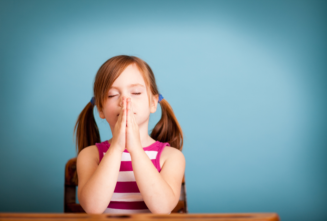 Bible Based Preschool Girl Praying