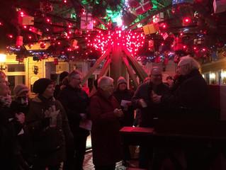 08.12.2017 Flashmob in Dülken am Größten drehenden Weihnachtsbaum Deutschlands