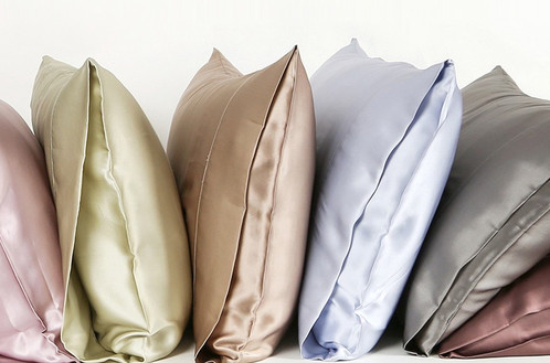 par de fundas de almohada de seda para cama king