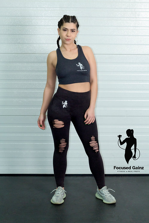 Distressed Workout Leggings (Women's)