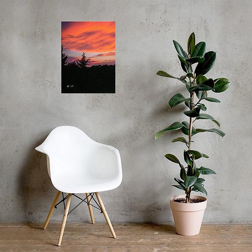 Orange Sky Poster 18x24