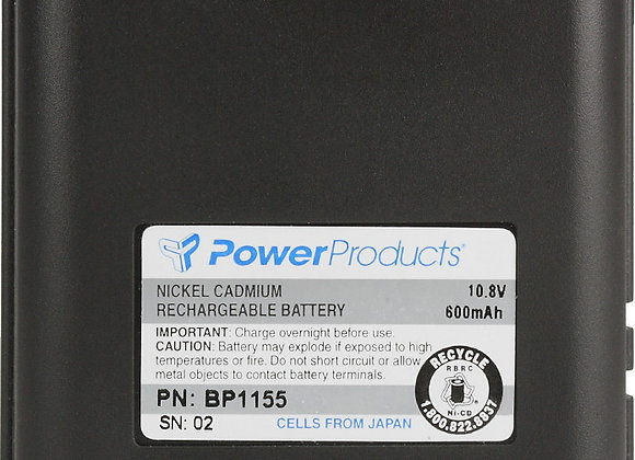 BATTERY FOR M/A-COM MONOGRAM - 10.8V / 600 mAh / NiCd