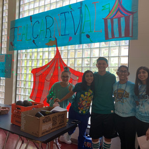 SBHS Hosts Its Anual Wear Teal Spin The Wheel Event