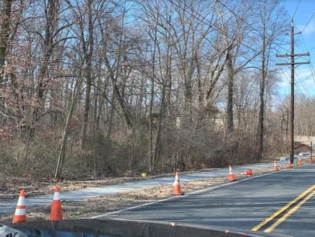Stout's Lane Sidewalk Construction Continues