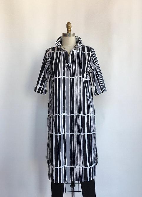 Absract Stripe Long Tunic